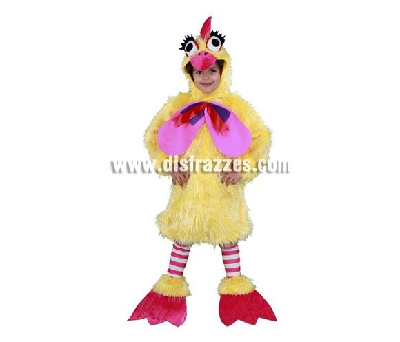 Disfraz de Gallina infantil para Carnaval. Talla de 7 a 9 años. Incluye gorro, mono, calentadores y cubrepies. Cuánto nos recuerda a la Gallina Caponata, ¿te acuerdas?  ¡¡Compra tu disfraz para Carnaval en nuestra tienda de disfraces, será divertido!!