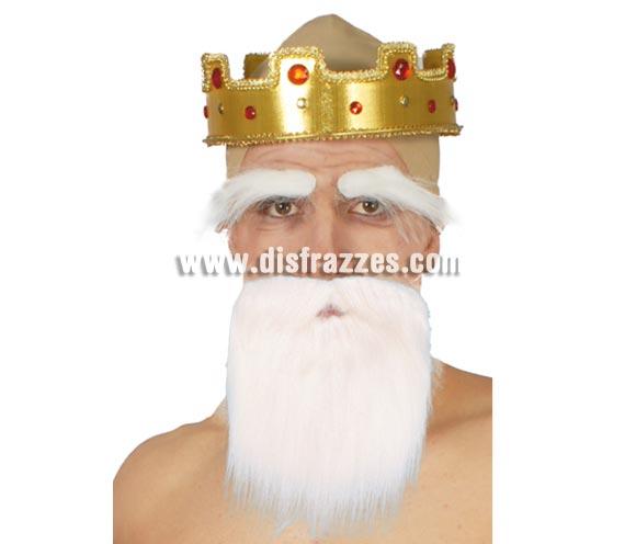 Barba blanca pequeña. Ideal para el disfraz de Papa Pitufo.