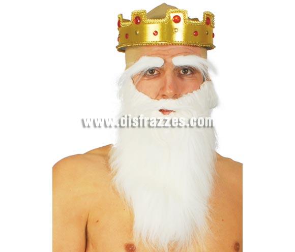 Barba blanca grande. Ideal para el disfraz de Papa Pitufo.