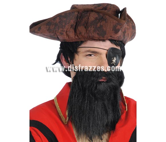 Barba negra. Barba de Pirata.