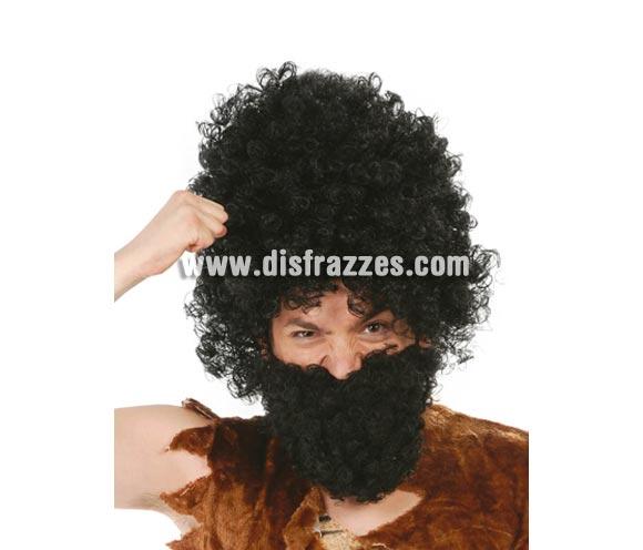 Barba negra rizada.