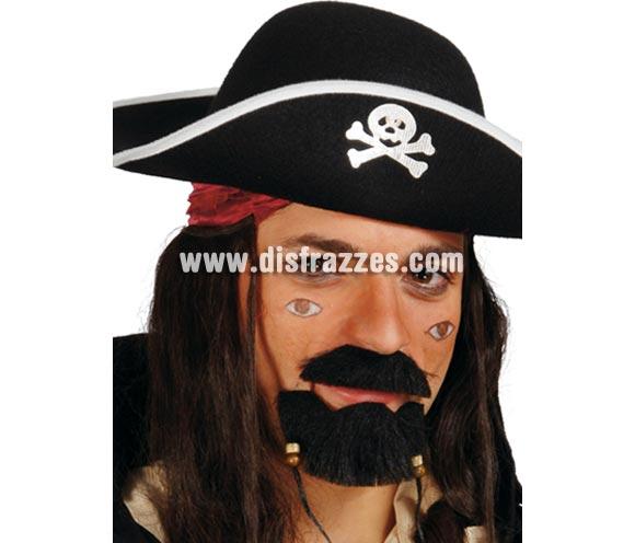 Perilla y bigote de Pirata con adornos.