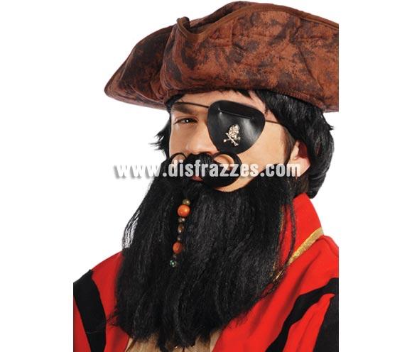 Conjunto barba y bigote de Pirata con adornos.