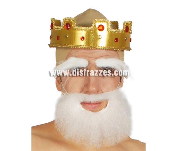 Barba blanca mediana. Valdría también para disfraz de Papá Pitufo.