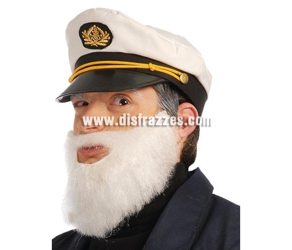 Barba blanca. Ideal para disfraz de Viejo Capitán de barco y Papá Pitufo.