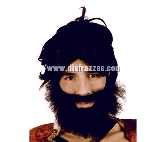 Barba negra grande. Perfecta para los disfraces de Troglodita o Cavernícola.