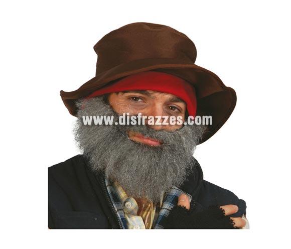 Barba canosa estorada perfecta para disfrazarse de Vagabundo o Mendigo.