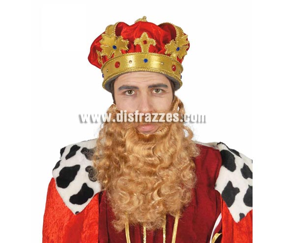 Barba grande rubia de Rey Mago Gaspar. También sirve como barba de Troglodita o Cavernícola.