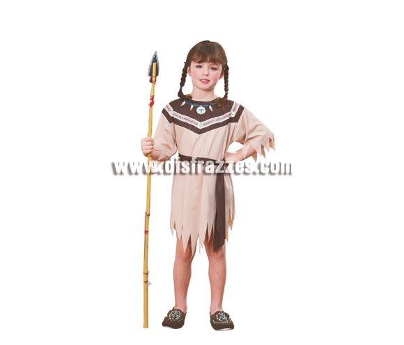 Disfraz barato de Princesa India para niñas de 8 a 10 años. Incluye vestido y cinturón. Lanza NO incluida, podrás verla en la sección de complementos.