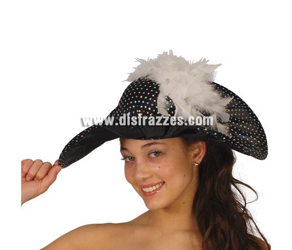 Sombrero o Pamela negra.