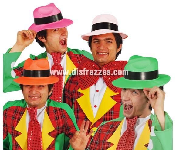 Sombrero barato de Ganster de colores surtidos. Precio por unidad, se venden por separado.