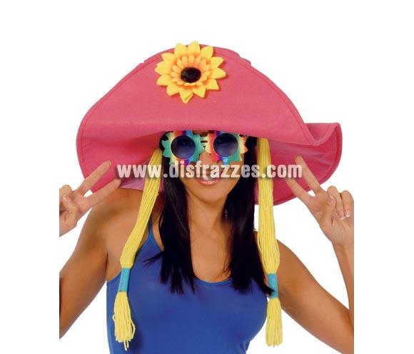 Sombrero Hippie con trenzas. Un sombrero muy cachondo ideal para Despedidas de Soltera.