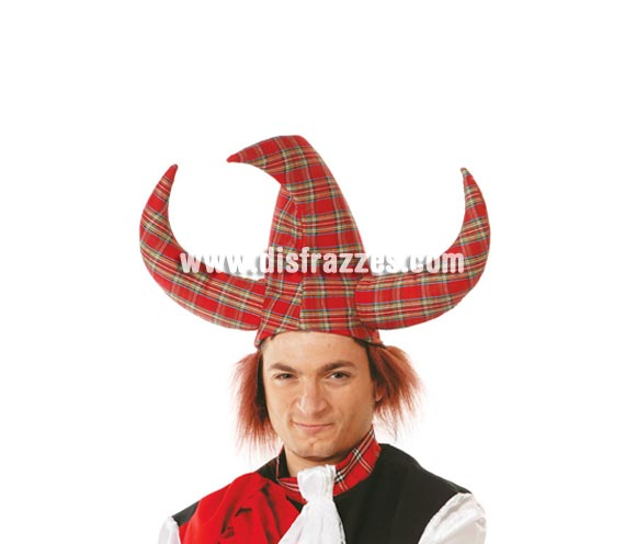 Sombrero Vikingo Escocés con pelo.