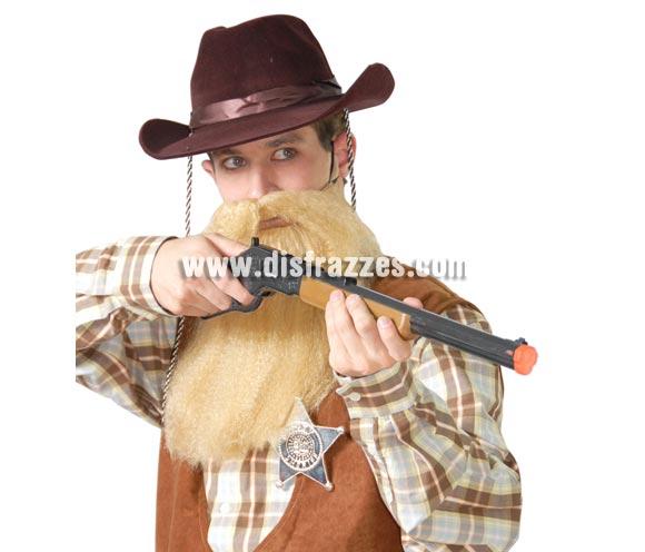 Sombrero Vaquero o Pistolero flocado marrón.