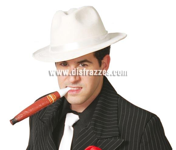 Sombrero terciopelo Ganster blanco.