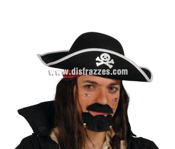 Sombrero Pirata de fieltro para adulto.