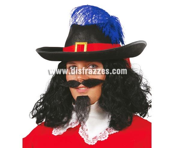 Sombrero fieltro negro de Mosquetero.