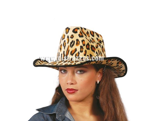 Sombrero vaquero Leopardo de terciopelo. Perfecto para Despedidas de Soltero o Soltera.