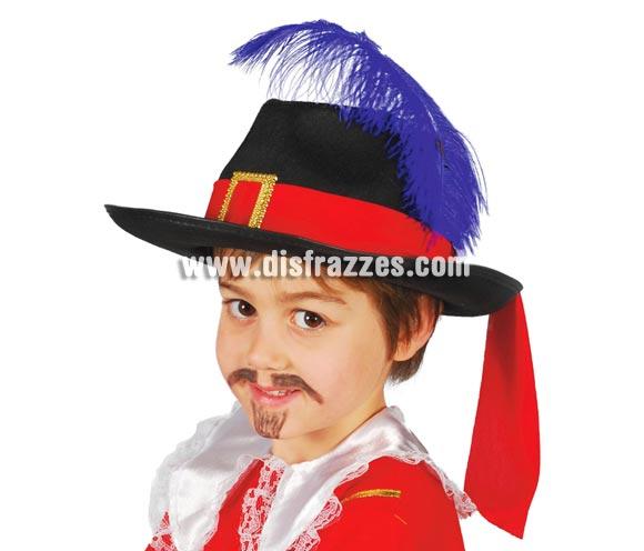 Sombrero de fieltro Mosquetero infantil.