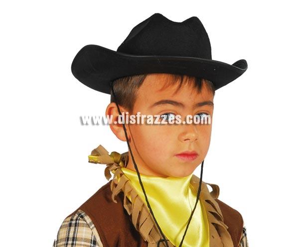 Sombrero de fieltro Vaquero infantil negro.