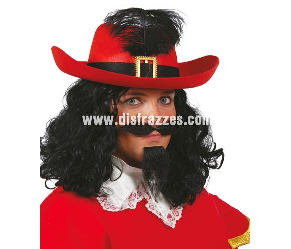 Sombrero de fieltro Mosquetero rojo.