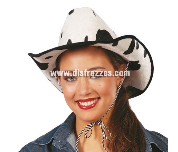 Sombrero vaquero terciopelo estampado Vaca. Perfecto para Despedidas ed Soltero o de Soltera.