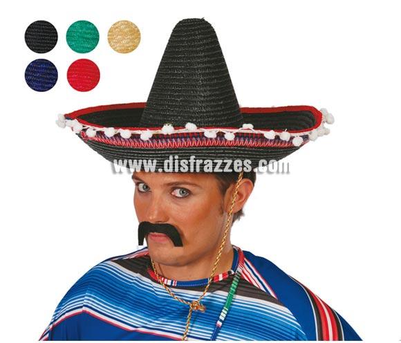 Sombrero Mejicano paja pequeño de 45 cms. Disponible en 5 colores variados. Precio por unidad, se venden por separado.