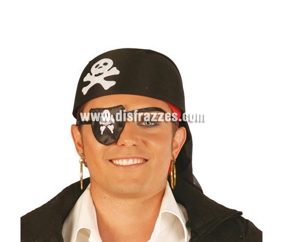 Sombrero o Bandana de Pirata negro de tela. Lo compran muchos clientes para Despedidas de Soltero o Soltera.