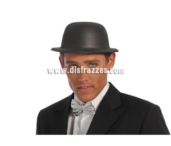 Sombrero o Bombín de latex negro.