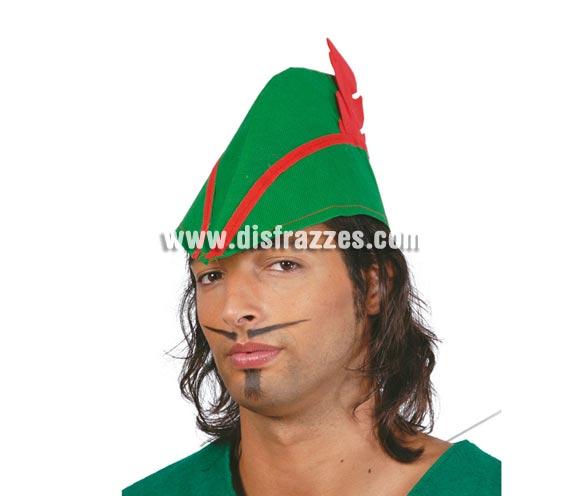 Sombrero de Robin Hood de tela. También lo usan como sombrero de Tirolés.