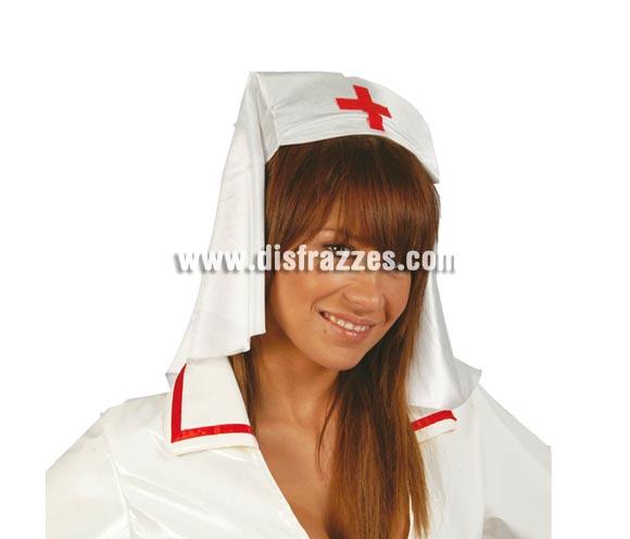 Tocado o Cofia de Enfermera de tela.