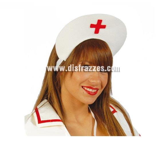 Cofia o tocado de Enfermera de fieltro. Ideal para Despedidas de Soltera.