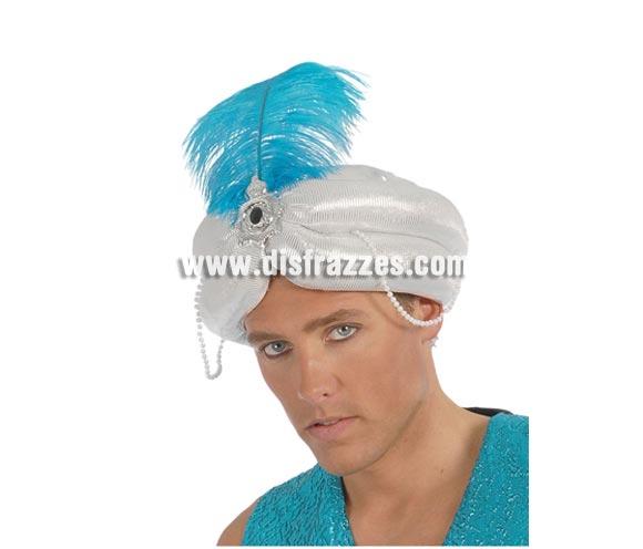 Gorro o Turbante de Marajá blanco o Árabe. También se usa como Turbante de paje Real para Navidad.