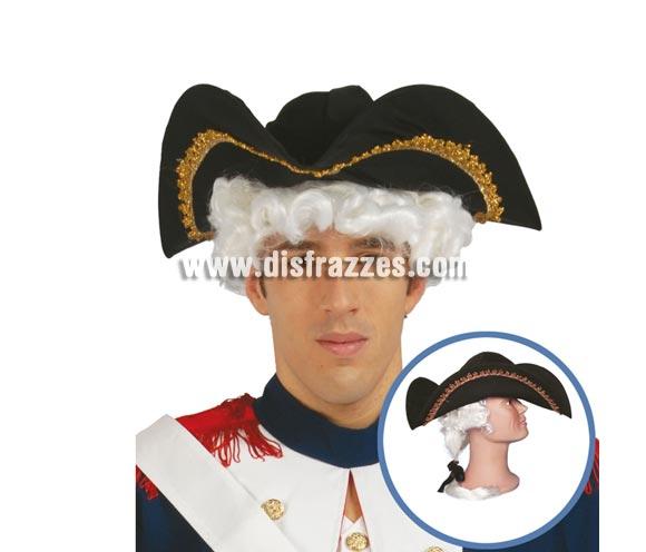 Sombrero de tela de Almirante con coleta.