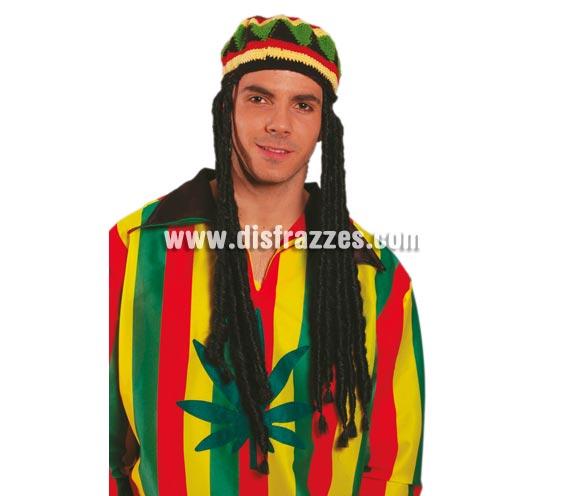 Gorra Jamaicano con rastas.