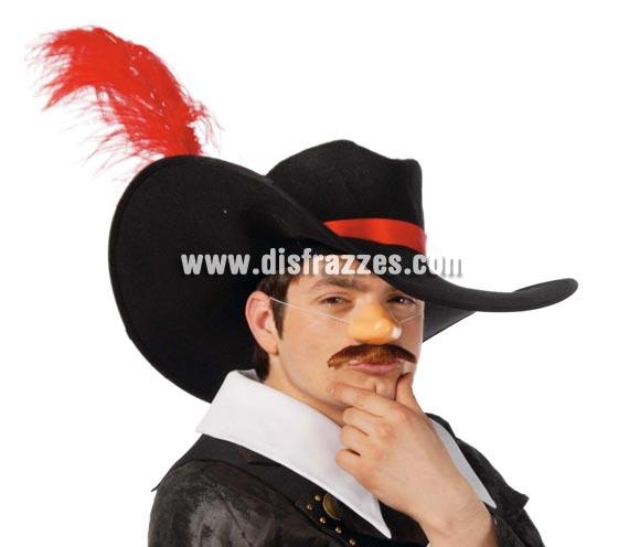 Sombrero de Espadachín o de Mosquetero. Sombrero de Cyrano o Tirano de Bergerac.