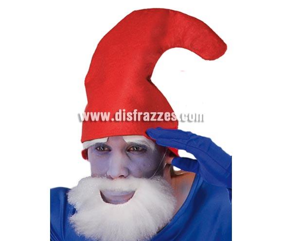 Gorro o Sombrero de Enanito rojo. Perfecto como complemento si te vas a disfrazar de Papá Pitufo.