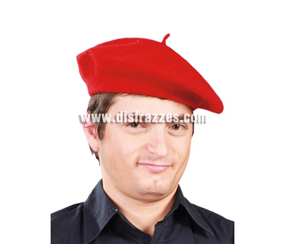 Boina roja. Txapela o Chapela roja para disfraces.