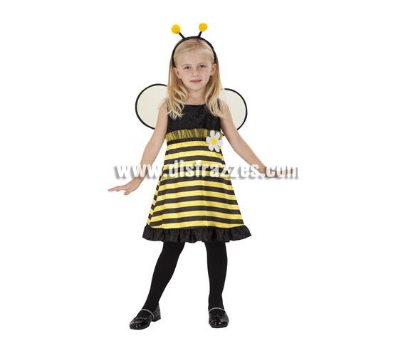 Disfraz de Abejita para niñas de 5 a 6 años. Incluye vestido, alas y tocado.