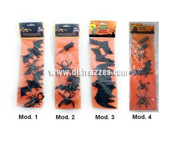 Set de bichos PVC para decoración de Halloween. Varios modelos surtidos, precio por unidad, se venden por separado.