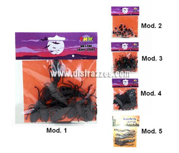 Bolsa de mini insectos para Halloween. Modelos surtidos. Precio por bolsa, se venden por separado.
