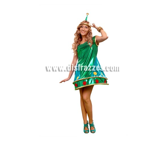 Disfraz de Marciana extraterrestre para mujer. Talla standar M-L = 38/42. Incluye vestido, dos tocados y dos pulseras.