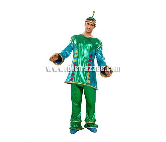 Disfraz Marciano extraterrestre para hombre. Talla standar M-L = 52/54. Incluye chaqueta, pantalón y 2 tocados.