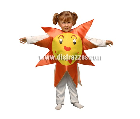 Disfraz barato de Sol para niños de 1 a 2 años