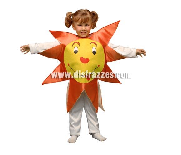 Disfraz de Sol para niños de 3 a 4 años. Incluye sólo el disfraz de goma espuma en forma de sol.