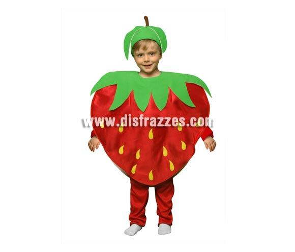Disfraz de Fresa para niños de 1 a 2 años. Incluye disfraz en forma de fresa y gorro.