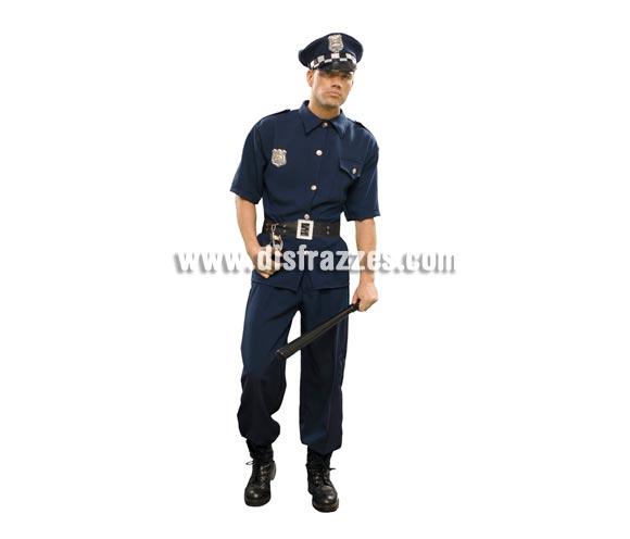 Disfraz de Policía Municipal para hombre. Talla standar M-L = 52/54. Incluye camisa, gorra, cinturón y pantalón.