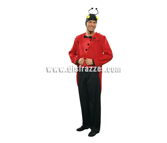 Disfraz de Lord Mariquita para hombre. Talla standar M-L = 52/54. Incluye chaqueta, pantalón, sombrero y pechera.