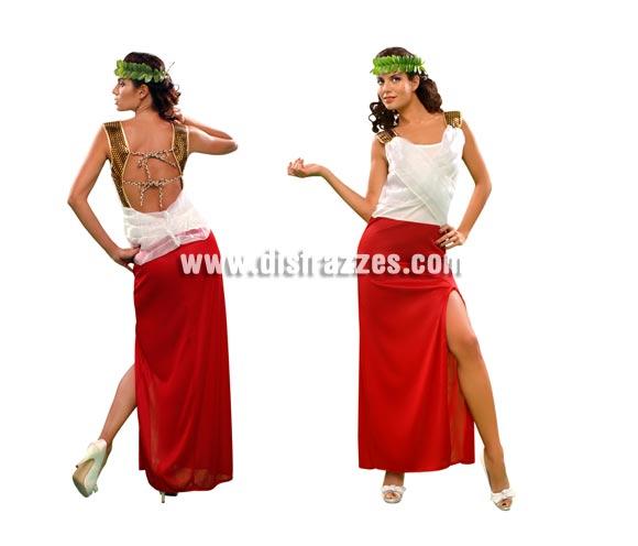 Disfraz barato de Romana Minerva para mujer. Talla standar M-L = 38/42. Incluye vestido y tocado.