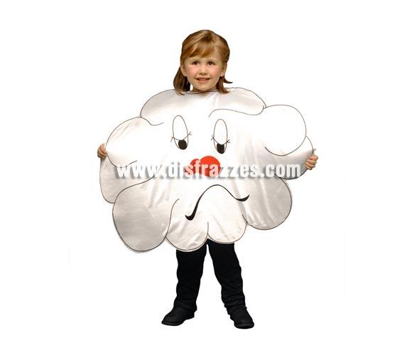 Disfraz de Nube para niños de 3 a 4 años. Incluye sólo el disfraz de goma espuma con forma de Nube.